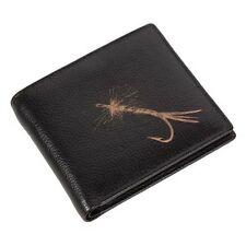 Engraved Leather Mens Wallet Fly Fishing Luxury Quality with Coin Pocket