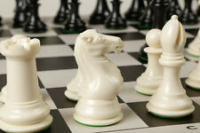 "Fantastic CHESS SET Featuring Game Board + Chess Pieces 4"" King, 4 lb Set GIFT"