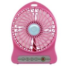Quality Mini USB Rechargeable Portable Cooling Table Fan (Blue)