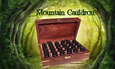 The Magickal Herb Oil Collection 12 Bottles In Brass Inlaid Wooden Case