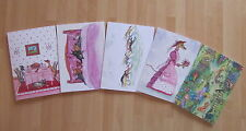 Pack of 5 different Cards from Whippet greyhound dog paintings by Bridgette Lee.