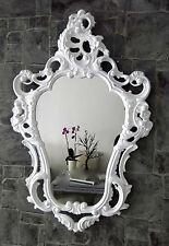 Specchio muro Bianco Antico Barocco Shabby ovale bagno 50x76 103039
