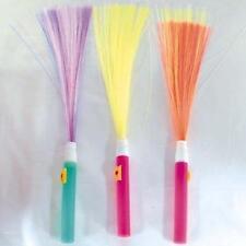 6 NEON FIBER OPTIC LIGHTUP WANDS novelty light stick NEW wand night time lights