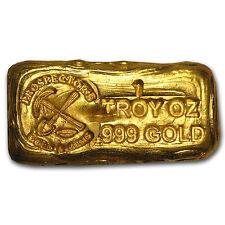 1 oz Gold Prospector's Gold & Gems Bar .999 Fine - SKU #75670