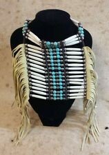 Breast Plate (CH5) Cherokee: Natural and Turquoise