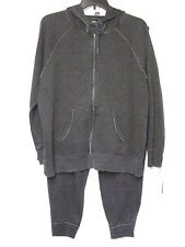 NWT Calvin Klein Performance 1X 2-PC Sweatsuit Hooded Zipper Top Gray Pants NEW