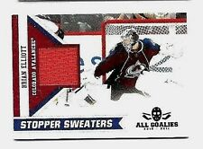 BRIAN ELLIOT 2010-11 PANINI ALL-GOALIES STOPPER SWEATERS GAME USED JERSEY