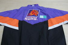 VINTAGE STARTER NBA PHOENIX SUNS WINDBREAKER JACKET PURPLE ORANGE BLACK X-LARGE