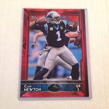 #30 CAM NEWTON Panthers / Auburn MVP QB #ed/25 made Red Version 2015 Topps 5x7