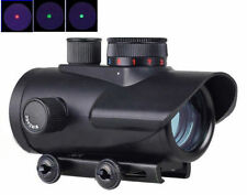 Hot 1 x 30mm Red/Green/Blue Dot Sight Rifle Scope For Rifle w/ 20mm Weaver Mount