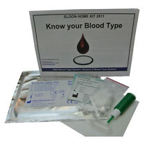 1 x ELDONCARD Blood Type Test Kit - Find Actual Type - A,B,O,AB & RHESUS D