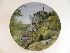 "D'Arceau-Limoges Porcelain 8.25"" Plate ""Flock of Sheep in the Auvergne"" 1988."
