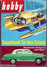 HOBBY -  1960 / 6 / WOLGA Limousine, WOHNWAGEN-Parade 1960, der ENZMANN 506