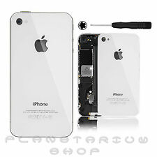 COVER REAR GLASS IPHONE 4S ORIGINAL CASE WHITE SPARE WHITE BATTERY