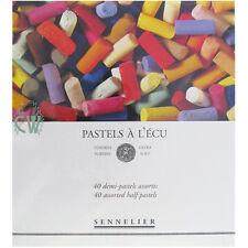 Sennelier 40 Assorted Soft Demi Pastel Box Set. Professional Artists Pastels