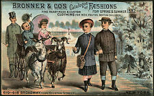 1882 BRONNERS & Co. CATALOGUE OF FASHIONS, NEW YORK - VICTORIAN TRADE CARD