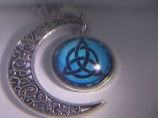 """Mythical Half Moon - Pentacle - Triquetra - Pendant & 18"""" Necklace """" NEW """""""