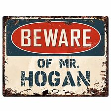 PP3140 Beware of MR. HOGAN Plate Chic Sign Home Store Wall Decor Funny Gift