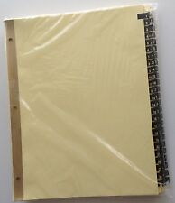 Ring Book Index Dividers Numbered 1 - 100 Gold on Black Leather Tabs for8.5 x 11