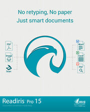 ReadIris Pro 15 for Windows OCR Make files editable Word PDF Excel