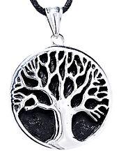 42: massiver Lebensbaum Ketten Anhänger Edelstahl Yggdrasil Weltenbaum Weltesche