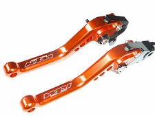 KTM 690 DUKE 2014-2016 BRAKE & CLUTCH ORANGE SHORT LEVERS RACE TRACK ROAD TS119