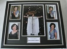 Dame Shirley Bassey SIGNED FRAMED Huge Photo Autograph display Music & COA