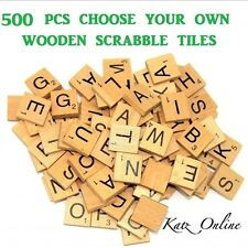 500 x Choose Your Own Wooden Scrabble Tiles Letters Board Game Toy Gift Crafts