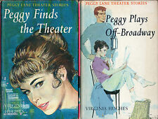 2 x PEGGY LANE THEATER Hcvs: #1 FINDS THE THEATER & #2 PLAYS OFF-BROADWAY Hughes