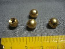 4 boules en laiton diamètre 8 mm , raccord de fin de lustre , suspension,  ...