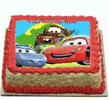 cars lightning McQueen Cake topper image icing FONDANT birthday, party
