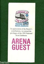BOY SCOUT - 1993 JAMBOREE ARENA GUEST TICKET - FREE SHIPPING        XX