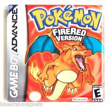 Pokemon Fire Red FRIDGE MAGNET (2 x 2 inches) video game box