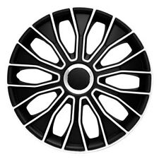 "15"" Wheel Trim Trims Covers Hub Caps VOLTEC BLACK & WHITE 15inches set"