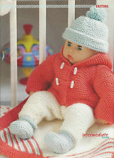 "DOLLS CLOTHES SET KNITTING PATTERN FIT 14"" DOLLS COAT-HAT-ALL-IN-ONE-BLANKET"