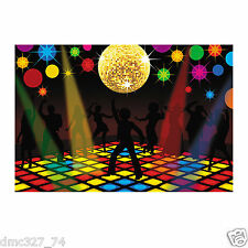 70s Funky Disco Saturday Night Fever Party Decoration Wall Mural BACKDROP Prop