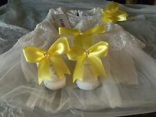 BNWT ROMANY BABY GIRLS TULLE STYLE DRESS SET 0-3 MONTHS