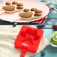 Bear/Dog Paw Silicone Lollipop Mold 3D Chocolate Ice Lolly Mould