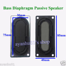 2pcs 85*40mm Bass Diaphragm Passive Speakers Silicone Iron Bluetooth Speaker