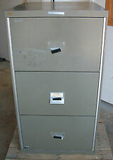 3 DRAWER REMINGTON RAND FIRE PROOF FILE CABINET FIREPROOF  RECORDS CITADEL SAFE