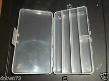 2 CLEAR PLASTIC Divided Storage Box Fishing Tackle,Bead,Craft,Small Parts Tools