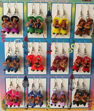 Lot of 12 Pairs Witch Earrings with Natural Stone. Handmade in Peru