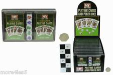 2 Packs of Playing Cards M.Y Home Casino 5 Poker Dice Set New