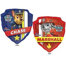 "Nickelodeon Paw Patrol XL 27"" Mylar Foil Balloon 2 Sided Chase & Marshall"