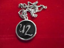 """U2 / Cool Jewelry Necklace / vintage 90's / Logo / New cond. / 1 1/4"""" round"""