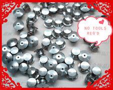 50 LOW PROFILE - Best Avail for LAPEL DISNEY hard rock Locking Pin Backs silver