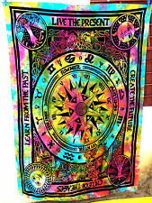 Multicolor Psychedelic Tapestry Celestial Sun and Moon Tapestry Zodiac Indian A1