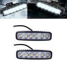 2x 18W Flood LED Spot Work Light Car Truck Boat Driving Fog Offroad SUV 12V-24V