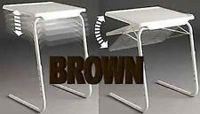 Seconds Brown TableMate II Smart Dinner Tray Foldable Adjustable Table Mate 2 TV