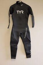 REPAIRED TYR Men's Hurricane Cat 1 Wetsuit-M/L-Black-Triathlon-Swimming